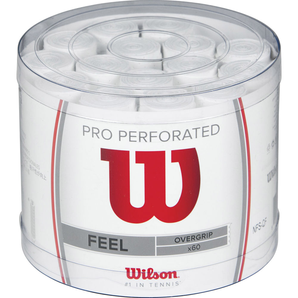 WILSON OVERGRIP PERFORATED WHITE X60